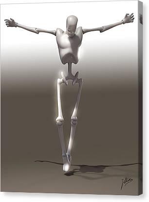 Christ Mechanical Canvas Print by Quim Abella