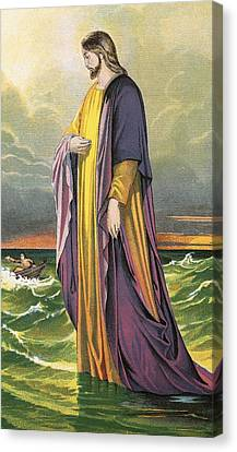 Christ Walking On Water Canvas Print