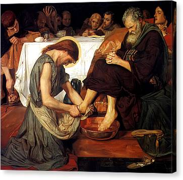 Brown Canvas Print - Christ Washing Peter's Feet by Ford Madox Brown