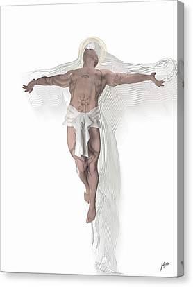 Crucifix Art Canvas Print - Christ Weightless by Quim Abella