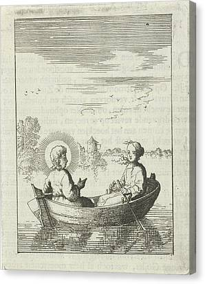 Rowboat Canvas Print - Christ With The Soul Personified In A Rowboat by Jan Luyken And Pieter Arentsz Ii