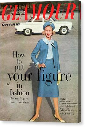 Full Skirt Canvas Print - Christa Vogel On The Cover Of Glamour by Frances Mclaughlin-Gill
