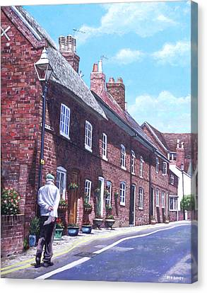 Christchurch Church Lane Canvas Print by Martin Davey