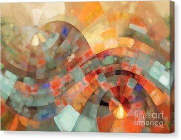 Christian Art- My Refuge Deuteronomy 33 27  Canvas Print by Mark Lawrence