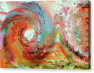 Christian Art- The Beginning. Genesis 1 1 Canvas Print by Mark Lawrence