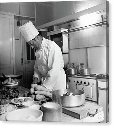 Dior Canvas Print - Christian Dior's Private Chef by Horst P. Horst