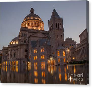 Canvas Print featuring the photograph Christian Science Center 2 by Mike Ste Marie