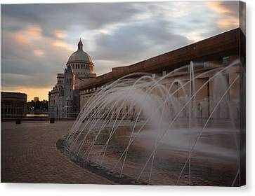 Oxford. Oxford Ma. Massachusetts Canvas Print - Christian Science Church Boston by Toby McGuire