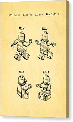 Christiansen Lego Figure 3 Patent Art 1979 Canvas Print by Ian Monk