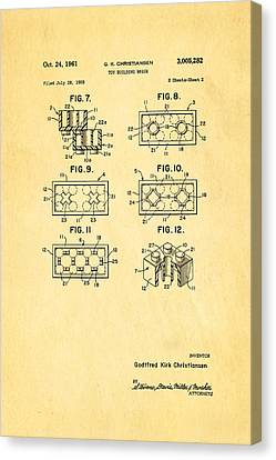 Christiansen Lego Toy Building Block Patent Art 2 1961 Canvas Print by Ian Monk