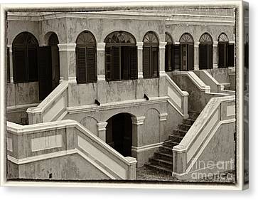 Christiansted National Historic Fort Sepia Canvas Print