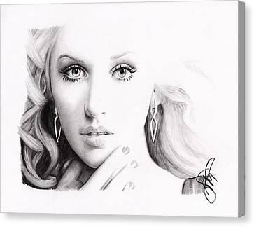 Christina Aguilera 2 Canvas Print