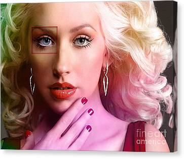 Christina Aguilera  Canvas Print