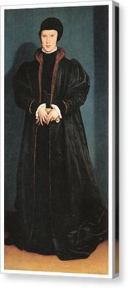 Christina Of Denmark Duchess Of Milan Canvas Print by Hans Holbein the Younger
