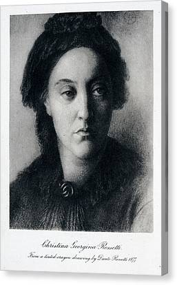 Christina Rossetti Canvas Print by British Library