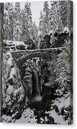 Canvas Print featuring the photograph Christine Falls In The Winter by Tikvah's Hope