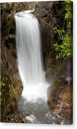 Canvas Print featuring the photograph Christine Falls Mount Rainier National Park by Bob Noble Photography