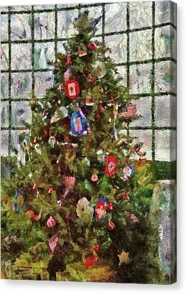 Christmas - An American Christmas Canvas Print by Mike Savad
