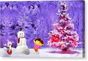 Christmas And Dora Canvas Print by George Rossidis