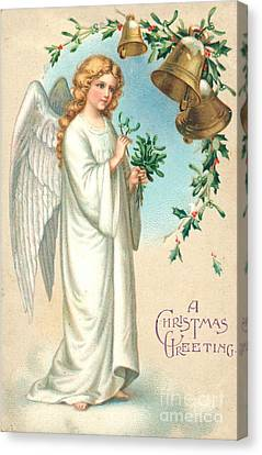 Christmas Angel Canvas Print by English School