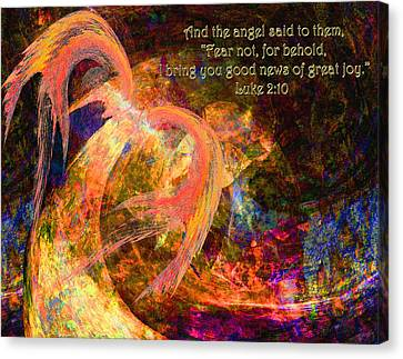 Christmas Angel Canvas Print by Stephanie Grant