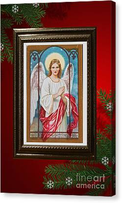 Canvas Print featuring the digital art Christmas Angel Art Prints Or Cards by Valerie Garner
