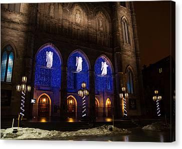 Christmas Angels - Notre-dame De Montreal Basilica Canvas Print by Georgia Mizuleva