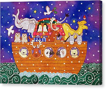 Old Canvas Print - Christmas Ark by Cathy Baxter