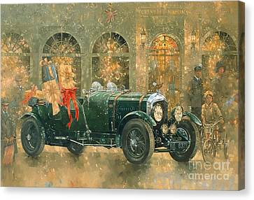 Christmas At Fortnum And Masons Canvas Print by Peter Miller