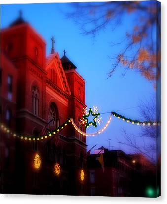 Canvas Print featuring the photograph Christmas At Our Lady Of Mount Carmel  by Aurelio Zucco