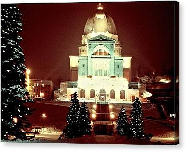 Christmas At St. Joseph's Oratory Canvas Print by George Cousins