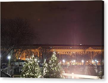 Silhouettes Canvas Print - Christmas At The Ellipse - Washington Dc - 01134 by DC Photographer