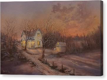Christmas At The Farm Canvas Print by Tom Shropshire