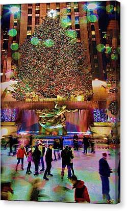 Canvas Print featuring the photograph Christmas At The Rock by Chris Lord