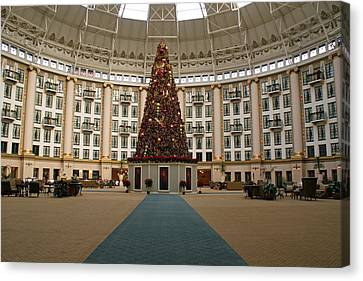 Christmas At West Baden Canvas Print by Sandy Keeton