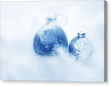 Christmas Balls Decoration Canvas Print by Michal Bednarek