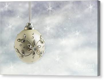 Christmas Bauble Canvas Print by Amanda Elwell