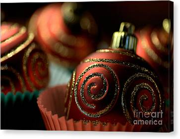 Christmas Bauble Cupcakes Canvas Print