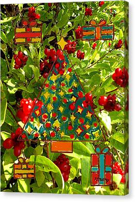 Christmas Berries Canvas Print by Patrick J Murphy