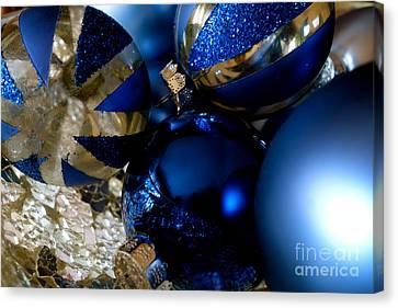 Christmas Blue Canvas Print
