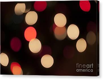 Christmas Bokeh Lights Canvas Print