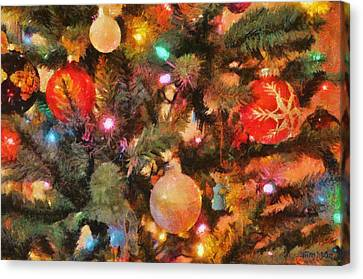 Christmas Branches Canvas Print by Jeffrey Kolker