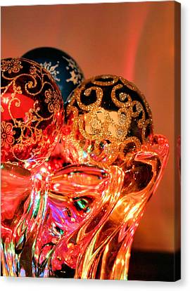 Christmas Bulbs Canvas Print by Kristin Elmquist