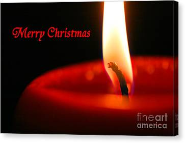 Christmas Candle Canvas Print by E B Schmidt