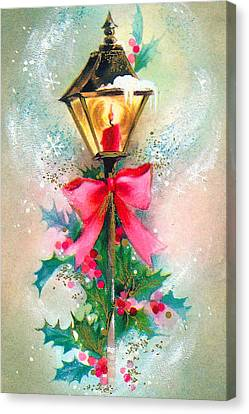 Christmas Candle Canvas Print by Munir Alawi