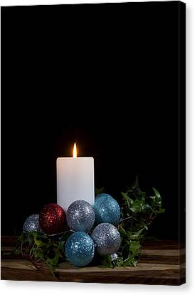 Christmas Candle2 Canvas Print by Cecil Fuselier