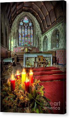 Altars Canvas Print - Christmas Candles by Adrian Evans
