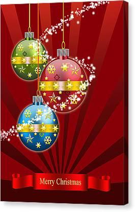 Christmas Card 3 Canvas Print by Mark Ashkenazi