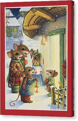 Christmas Carols Canvas Print by Lynn Bywaters
