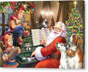 Christmas Carols Canvas Print by Zorina Baldescu